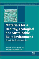 Principles for Evaluating Building Materials in Sustainable Construction Book