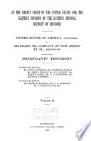 United States of America Vs  Standard Oil Company  and Others