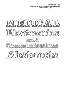 Medical Electronics and Communications Abstracts