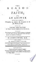 The Reason of Faith