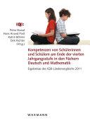 Kompetenzen von Schülerinnen und Schülern am Ende der vierten Jahrgangsstufe in den Fächern Deutsch und Mathematik