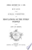 School Documents [of The] Boston Public Schools