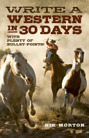 Write a Western in 30 Days Pdf/ePub eBook