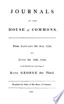 Journals of the House of Commons Book