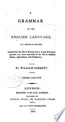 Grammar Of The English Language In A Series Of Letters