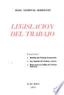Legislación del trabajo