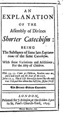 An Explanation of the Assembly of Divines Shorter Catechism