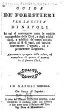 Guida de' forestieri per la real città di Napoli