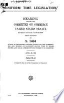 Uniform time legislation