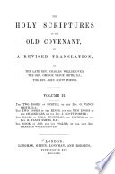 The Holy Scriptures of the Old Covenant in a Revised Translation