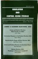 Himalayan And Central Asian Studies