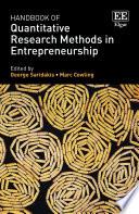 Handbook Of Quantitative Research Methods In Entrepreneurship