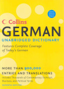 Collins German Unabridged Dictionary, 7th Edition
