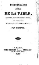 Dictionnaire abrégé de la fable, des poètes, des tableaux et des statues, pour l'intelligence dont les sujets sont tirés de l'histoire poétique