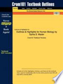Outlines and Highlights for Human Biology by Sylvia S Mader, Isbn