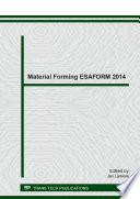 Material Forming ESAFORM 2014