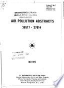 Air Pollution Abstracts