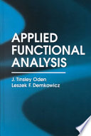 Applied Functional Analysis  Second Edition Book