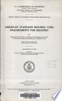 American Standard Building Code Requirements For Masonry Book PDF