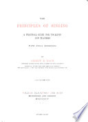 The Principles of Singing