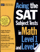 Acing The Sat Subject Tests In Math Level 1 And Level 2 Book PDF