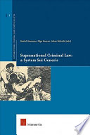 Supranational Criminal Law