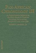 Pan African Chronology  1914 1929