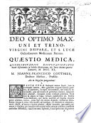 Quæstio medica, ... J. F. Couthier, Præs. An in orgasmo purgandum?.