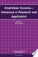 Amphibian Venoms Advances In Research And Application 2012 Edition Book PDF