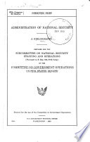 Administratioon of National Security