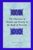 The Discourse of Wealth And Poverty in the Book of Proverbs