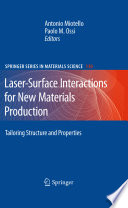 Laser Surface Interactions for New Materials Production