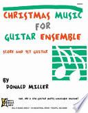 Christmas Music for Guitar Ensemble Book