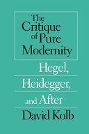 Pdf The Critique of Pure Modernity
