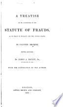 A Treatise on the Construction of the Statute of Frauds Book