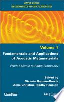 Fundamentals and Applications of Acoustic Metamaterials Book