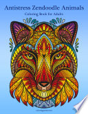 Antistress Zendoodle Animals Coloring Book for Adults 1
