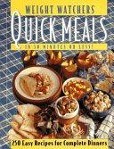 Weight Watchers Quick Meals Book