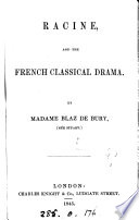 Racine and the French classical drama Book PDF