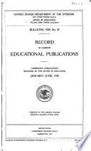 Record Of Current Educational Publications Jan 1912 Jan Mar 1932