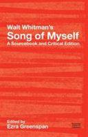 Walt Whitman s  Song of Myself