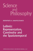 Leibniz  Representation  Continuity and the Spatiotemporal