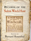 Records of the Salem Witch Hunt Book PDF