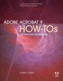 Adobe Acrobat 9 How Tos