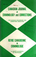 Canadian Journal of Criminology and Corrections