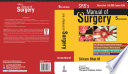 """SRB's Manual of Surgery"" by Sriram Bhat M"