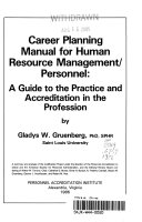 Career Planning Manual for Human Resource Management personnel