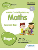 Books - Hodder Cam Primary Maths Lb Book 4 | ISBN 9781471884375