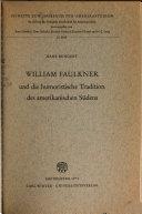 William Faulkner und die humoristische Tradition des amerikanischen S  dens