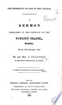 The Residence Of God In The Church A Sermon Preached At The Opening Of The Poultry Chapel London On The 17th November 1819 Book PDF